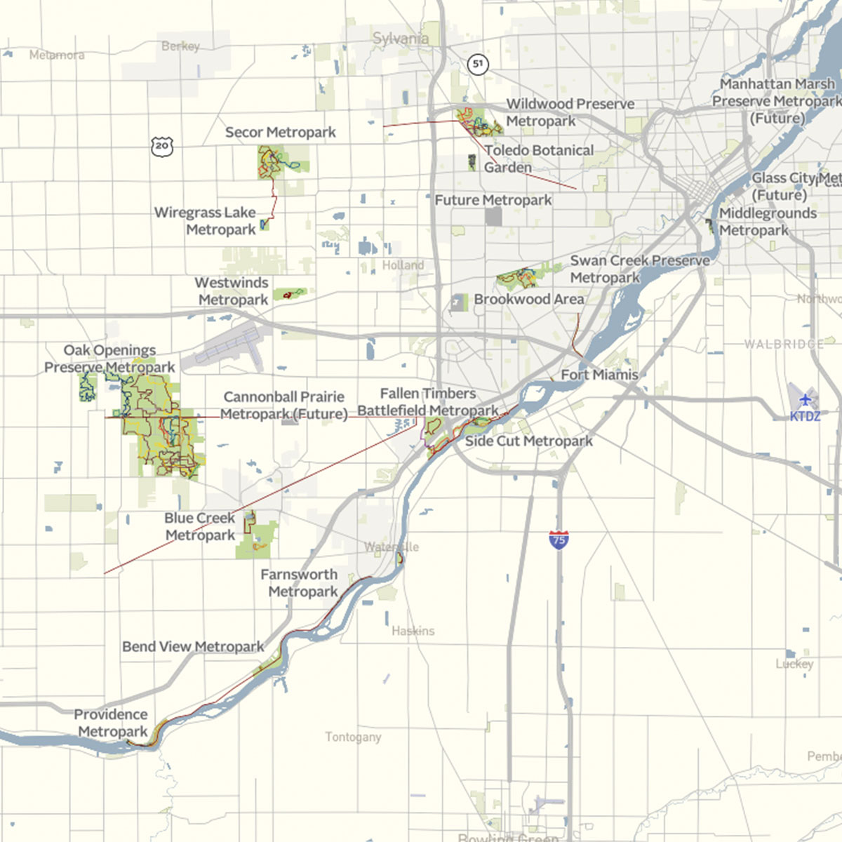 Client 0014 Metroparks Map